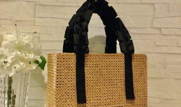 St.etoileオリジナルバッグ(バスケット ブラックハンドル)